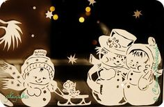 Картина панно рисунок Новый год Вырезание Новогодние окна Бумага фото 5