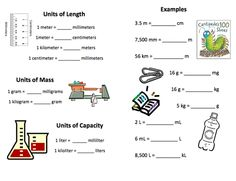 metric system measurement conversion chart measurement ged test prep. Black Bedroom Furniture Sets. Home Design Ideas