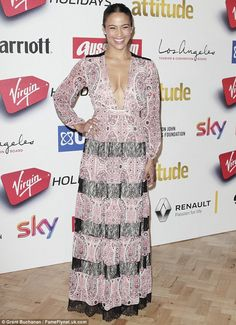 Hitting the British social scene: Paula Patton put her parental duties to one side to atte...