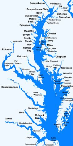 Chesapeake Bay and Tributaries,- Repinned by Chesapeake College Adult Ed. We offer free classes on the Eastern Shore of MD to help you earn your GED - H.S. Diploma or Learn English (ESL). www.Chesapeake.edu