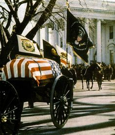 11/25/63 - A military caison carries JFK body's from the White House for the…