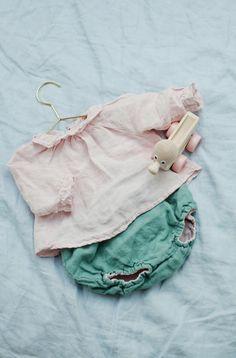 Beautiful Handmade Linen Blouse & Bloomers | Lapetitealice on Etsy