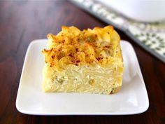 Sweet Lokshen Kugel Learn to make traditional Yiddish dairy noodle pudding - Lokshen Kugel with cottage cheese, sour cream, cream cheese, sugar, and cinnamon. Passover Recipes, Jewish Recipes, Hanukkah Recipes, German Recipes, Hanukkah Food, Hannukah, Kosher Recipes, Cooking Recipes, Easy Recipes