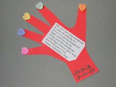 Fun Handprint and Footprint Art : Handprint & Thumbprint Valentines Ideas