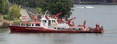 "(Fire Boat) ""BERUFSFEUERWEHR FRANKFURT aM"" Boat of the Professional Fire Brigade Frankfurt, Germany"