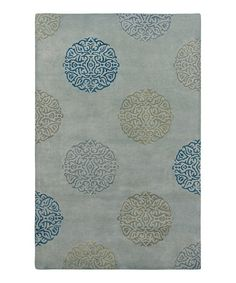 Take a look at this Seafoam Wool-Blend Mercer SoHo Rug by Amer Rugs on #zulily today!