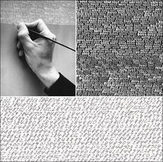 """le fini défini par le non fini"" Roman Opalka Roman, Mudras, Conceptual Art, Ink Art, Geometry, Pattern Design, Infinity Number, Art Text, Year 7"