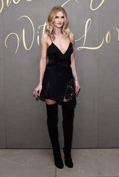 Another reason we're lusting after Rosie Huntington-Whiteley's wardrobe? Those OTK boots *drool*