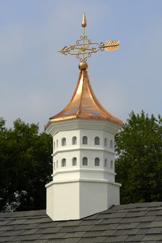 This is called a cupola. What I love about this is it's birdhouse inspiration. Imagine this on the rooftop garden of your lake-front summer home.