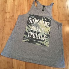 Sunshine, Beach, Tequila Tank Never warn before perfect condition, size small PacSun Tops Muscle Tees