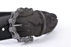 Recycled Bicycle Tire Belt and Chain Buckle/ love it!
