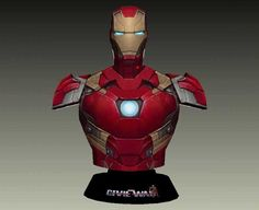 Captain America: Civil War - Mark 46 (Mark XLVI) Bust Free Papercraft Download - http://www.papercraftsquare.com/captain-america-civil-war-mark-46-mark-xlvi-bust-free-papercraft-download.html#Bust, #CaptainAmerica, #CaptainAmericaCivilWar, #Mark46, #MarkXLVI