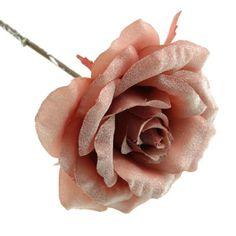 42cm Frosted Rose Stem