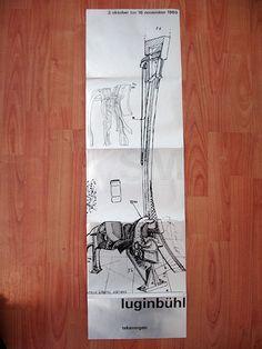 Luginbül Stedelijk Museum catalogue/poster 1969 by insect54, via Flickr