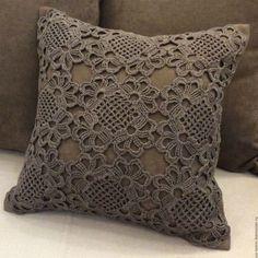 19 ideas for crochet pillow case beautiful Crochet Pillow Cases, Crochet Cushion Cover, Crochet Pillow Pattern, Crochet Square Patterns, Crochet Cushions, Crochet Diagram, Crochet Motif, Crochet Doilies, Knitting Patterns