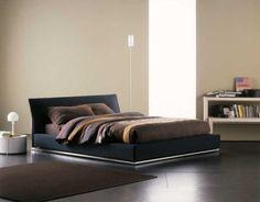 "[Double Bed / Letto matrimoniale ""Sailor"" by Flou] #Beds #Bedroom #Letto #InteriorDesign #HomeDecor #Design #Arredamento #Furnishings #blue"