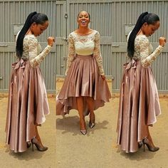 hi-lo Prom Dress,new style Prom Dress,lace Prom Dress,long sleeves Prom Dress,party dress for girls
