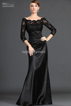 Wholesale Hot Sale Satin Organza Lace Black Long-Sleeve Wedding Dress Bridal Gown/Evening Dresses, Free shipping, $95.2-114.24/Piece | DHgate this is gorgeous!