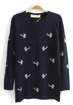 Navy Blue bird sweater = in love!!