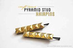 DIY Pyramid Stud Hairpins @mintedstrawberry.blogspot.com #stockingstuffer #holiday #christmas