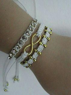 Micro macrame idea- photo only Braided Bracelets, Paracord Bracelets, Handmade Bracelets, Friendship Bracelets, Handmade Jewelry, Hemp Jewelry, Macrame Jewelry, Macrame Bracelets, Leather Jewelry
