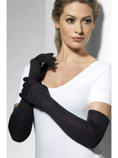 Purchase your pair of long gloves to match with a long dress in parties from the Halloween Spot. These long black gloves will go perfect with long black dress. Fancy Dress Accessories, Halloween Accessories, Costume Accessories, Halloween Party Themes, Adult Halloween, Long Gloves, Black Gloves, Stripper Shoes, Satin
