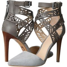 Joe's Jeans Norman High Heels, Gray ($62) ❤ liked on Polyvore