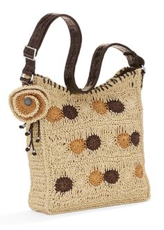 Brighton is known for its exquisitely crafted women's handbags, jewelry, and charms for bracelets, along with many other stylish accessories. Crochet Handbags, Crochet Purses, Crochet Bags, Knitted Bags, Love Crochet, Handmade Handbags, Handmade Bags, Crochet Baby Boots, Brighton Bags