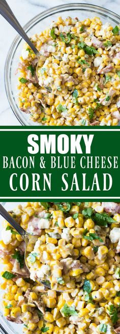 Smoky Bacon & Blue Cheese Corn Salad