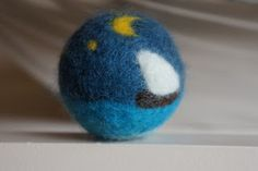 Simple and Joyful: Needle Felted Ball Tutorial