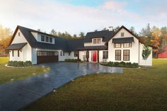 Farmhouse Style House Plan - 4 Beds 3.00 Baths 2888 Sq/Ft Plan #80-219 Exterior - Front Elevation
