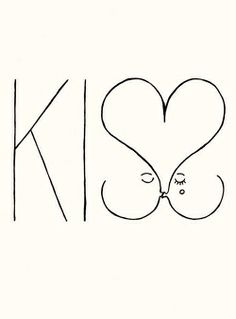 kiss // illustration from denis carrier Illustrations, Illustration Art, Love Kiss, My Love, Poster S, Tatting, Love Quotes, Sweet Quotes, Girly