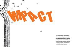 type specimen poster impact