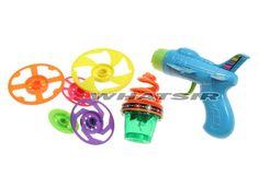 UFO LED Flash #SpinTop Kids Shooting Plane Gun Pop Up Top Toy #Pistol Peg-top #Whatsir