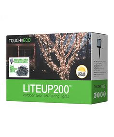 Look what I found on #zulily! White LiteUp200™ Solar LED String Lights #zulilyfinds
