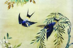 Embroidery in China.