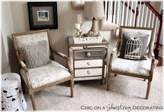 These chairs are perfect for a small space.
