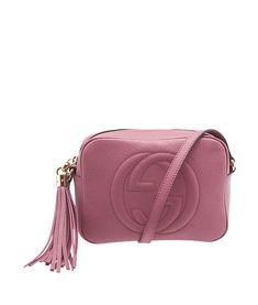 Gucci Soho Disco Pink GG Leather Crossbody Bag