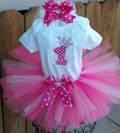 princess first birthday tutu outfit by TrueBlueTouchLAB on Etsy, $32.00 would love this in red