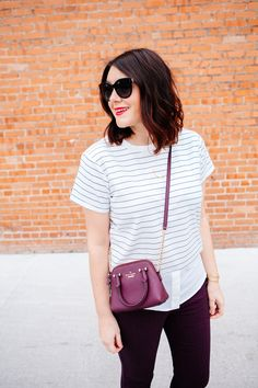 little mini purse + stripes //