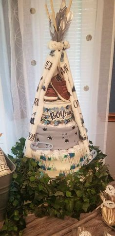 Loving the diaper cake at this Mountain explorer boho tribal Baby Shower! See mo.- Loving the diaper cake at this Mountain explorer boho tribal Baby Shower! See mo… Loving the diaper cake at this Mountain explorer boho… - Baby Shower Diapers, Baby Shower Cakes, Baby Boy Shower, Baby Shower Gifts, Diaper Shower, Baby Cakes, Shower Party, Baby Shower Parties, Baby Shower Themes