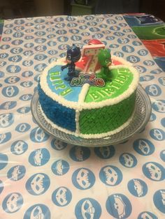 PJ Masks Birthday cake I made for my nephew.