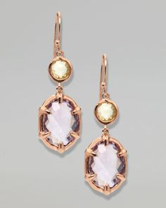 Two-Stone Drop Earrings, Rose Gold by Ippolita at Neiman Marcus.