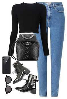 """Untitled #4310"" by magsmccray on Polyvore featuring Wrangler, Proenza Schouler and Thierry Lasry"