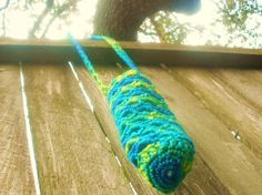 Blue Green and Yellow Water Bottle Holder by Ravy17CrochetDesign, $11.95