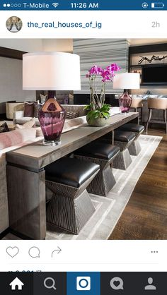Perfectly Design Living Room Design with These Beautiful Far.- Perfectly Design Living Room Design with These Beautiful Farmhouse Sofa Tables - Design Living Room, Home Living Room, Living Room Furniture, Living Room Decor, Furniture Sets, Living Room Tables, Dining Rooms, Family Room Design, Furniture Online