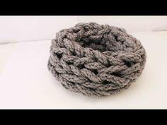 Loop Schal Handstricken - super großes Pattentmuster | Super einfach & schnell - YouTube