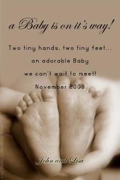 What a cute pregnancy announcement! So sweet. Baby On The Way, Our Baby, Maternity Pictures, Baby Pictures, Maternity Portraits, Pregnancy Announcement Cards, Baby Announcements, Pregnancy Quotes, Pregnancy Diets