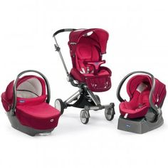 Chicco Trio I Move Stroller - Fuschia
