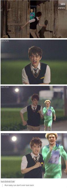 run Kyungsoo run!!! #D.O #Sehun # :D